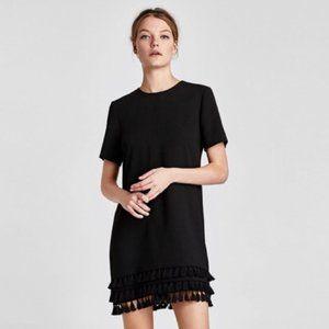 Zara tassel hem shift dress - size Small